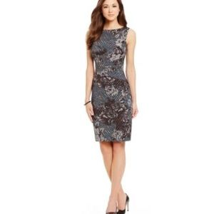 ANTONIO MELANI DONNA Printed PONTE Sheath Dress